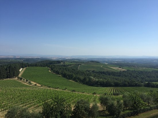 Gaiole in Chianti, Italie : View from castle