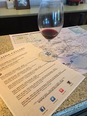 Paso Robles, Kalifornien: wine flight