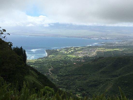 Waihee, هاواي: Ocean view from the ridge