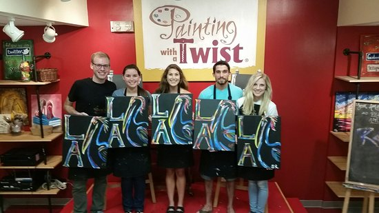 We Did A Painting Birthday Party Picture Of Painting With A Twist