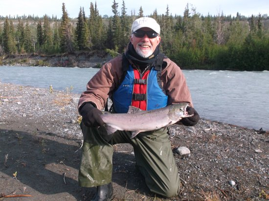 Copper Center, AK: Caught 1st Salmon on 1st trip to Alaska with River Wrangllers.