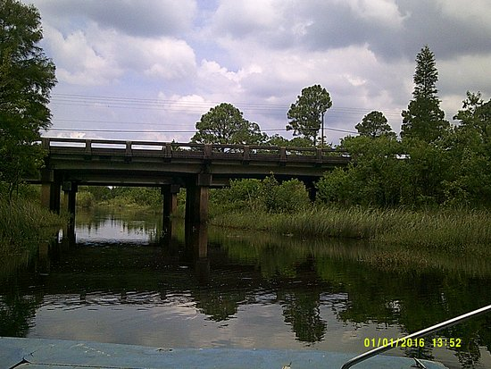 Moss Point, MS: They say the water was to the top of this bridge during Katrina