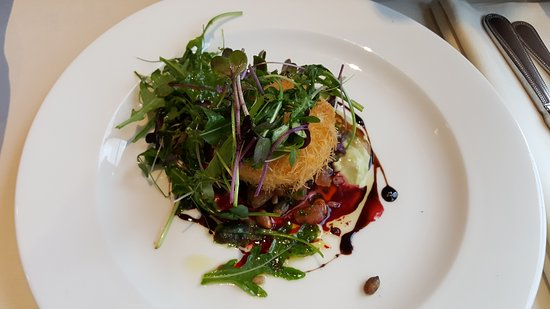 Cloverhill, Ireland: Goats Cheese and Beetroot entree
