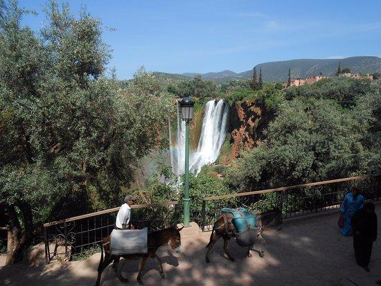 Azilal, Marokko: Cascades d'Ouzoud, Arriver à Ouzoud, Cherchez les escaliers à gauche du Parking,