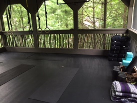 Lake Toxaway, Carolina del Nord: 'Treehouse room' for yoga