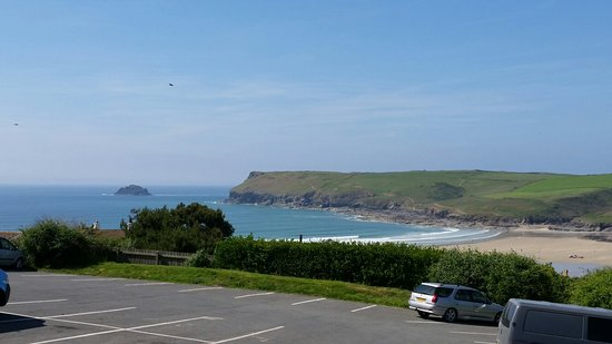 Polzeath, UK: Such stunning views from the Oystercatcher. Just can't beat it
