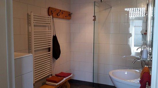 Badkamer met toilet en douche - Picture of Bed and Breakfast Klein ...