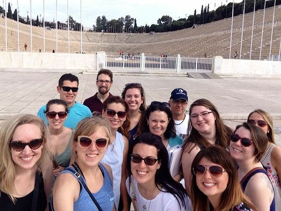 Attica, Yunanistan: Olympic Stadium with Maria