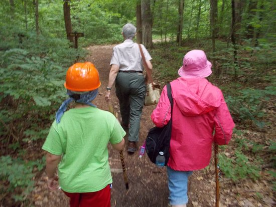 Spencer, IN: Taking hike led by Naturalist Ms. Barbara to the Fire Tower.