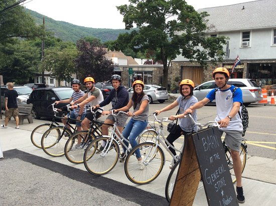 Geared up and ready to enjoy an afternoon with Cold Spring Bike Rental & Tours