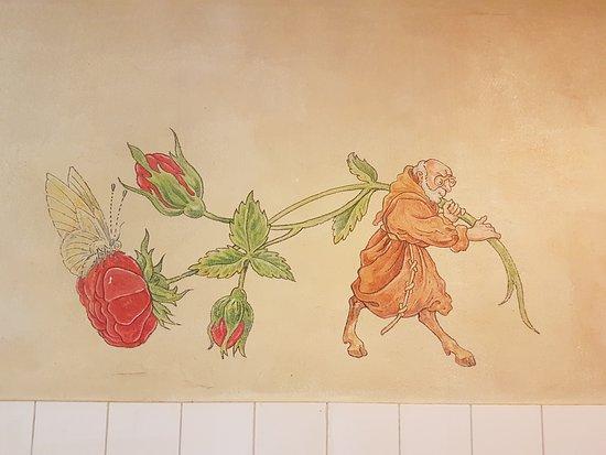 Alphen aan den Rijn, Niederlande: bijzondere schildering in heren wc