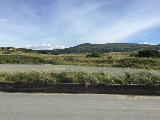 Newport -Trefdraeth, UK: re named Mums Hill, seen from the bungalow we stayed in and was eventually climbed!
