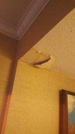 Maryland Heights, MO: Club lounge peeling ceiling