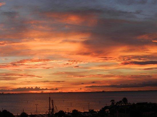 Ruskin, FL: sunset over Tampa Bay