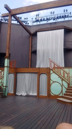 Bloomington, IL: part of the stage in the outdoor theater
