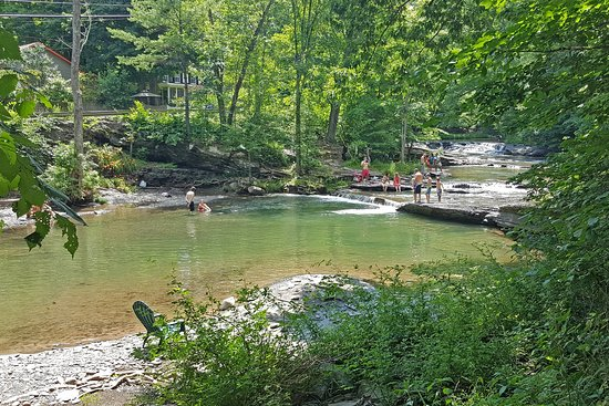The Woodstock Inn on the Millstream: The Millstream With Bathers