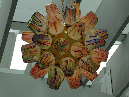 Corning, NY: One of the amazing hanging pieces.