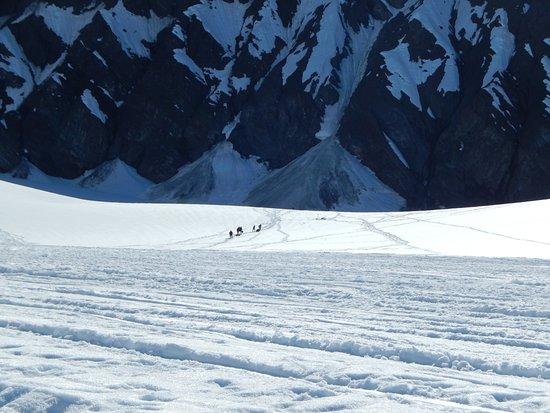 Talkeetna, AK: Courageous Mountain Hikers Headed Up Mountain