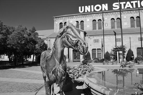 Union Station: Black and white study photo.