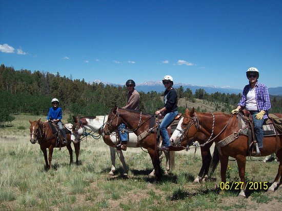 Elk Mountain Ranch: 14,000 ft. peaks in the background