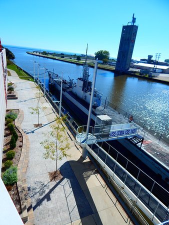 Manitowoc, WI: USS Cobia from the deck on the outside of the Museum.