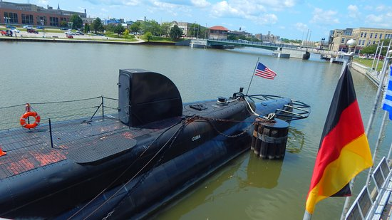 Manitowoc, WI: The stern of the Submarine.