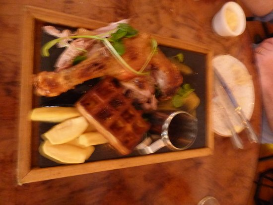 Apotek Restaurant: Duck leg and waffle, a must have