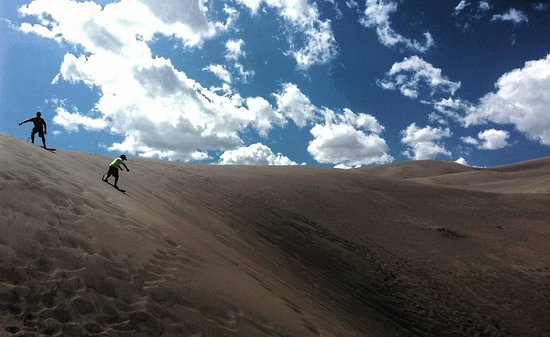 Sand Surfing Picture Of Great Sand Dunes National Park
