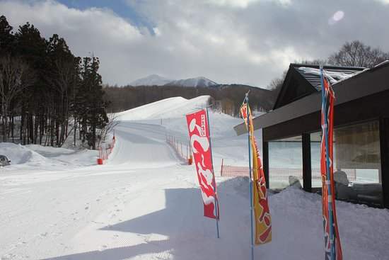 Ajigasawa-machi, Japonia: Aomori Spring Ramen House with 22ft Halfpipe in background