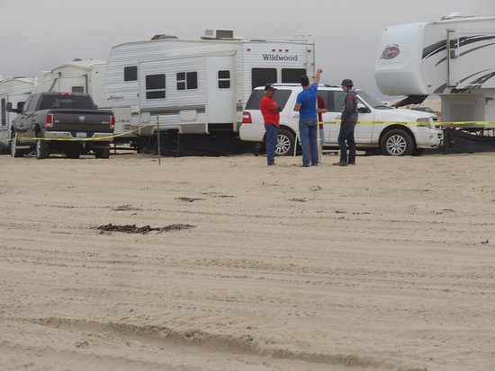 Oceano, CA: RVs camping on Pismo Beach.