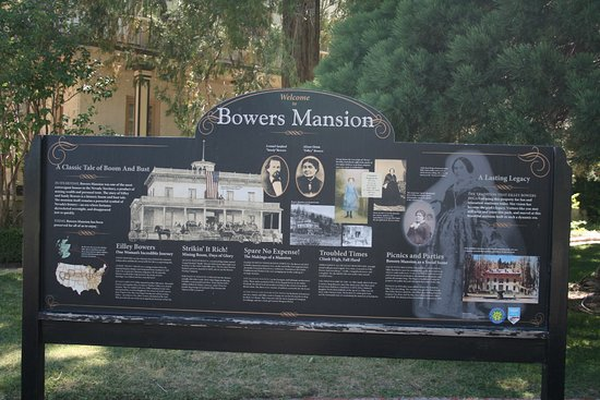 Bowers Mansion Museum : History board