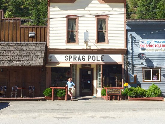 Murray, ID: exterior of 1885 built Spragpole bar and grill