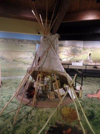 Chamberlain, Dakota Południowa: Tepee on display