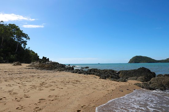 Palm Cove, Australië: All the way to the left just beyond the pier