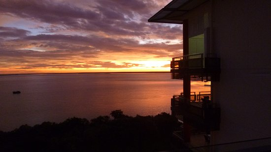 One30 Esplanade: Sunset over the Darwin Harbour from ONE130 Esplanade
