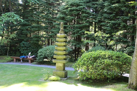 Studying at Nitobe Garden - Picture of Nitobe Memorial Garden ...
