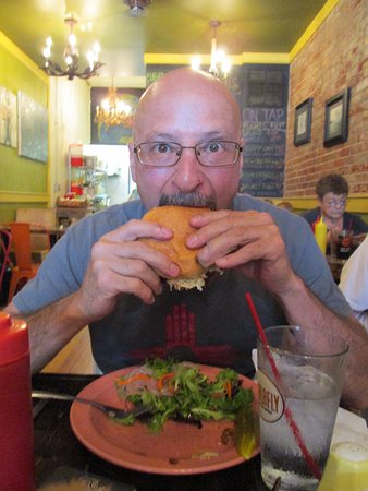Chesterton, IN: He had to be different for his 50th Birthday Celebration by ordering the pulled pork sandwich.