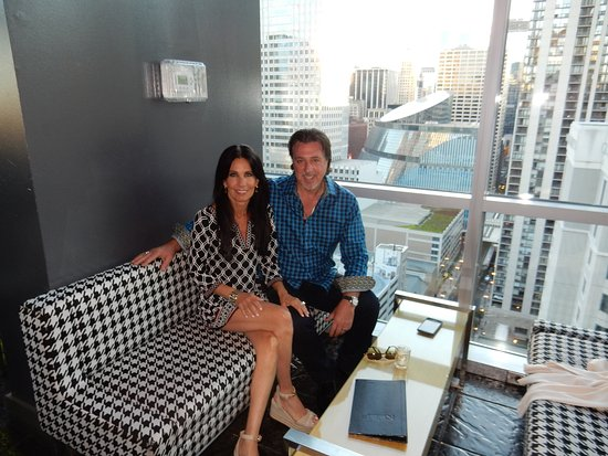 ROOF On TheWit: READY FOR DINNER AT ROOF ROSARIO CASSATA AND CAROLYN  CASSATA AT THE