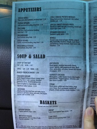 Houghton Lake, MI: Menu