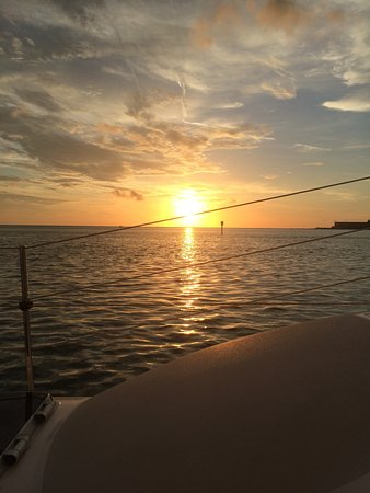 Kathleen D Sailing Catamaran Day Sails: Perfect sunset cruise...thanks to Captain Eddie for a great time.