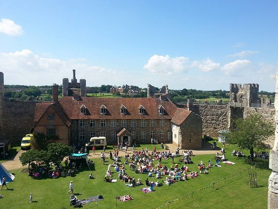 Framlingham, UK: View from the wall to the Great Hall