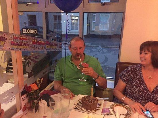 Market Drayton, UK: Stuart Celebrating Birthday Party at ORUNA