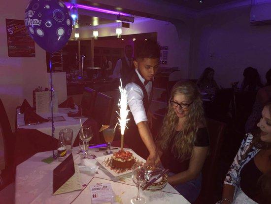 Market Drayton, UK: Penny Celebrating Birthday Party at ORUNA