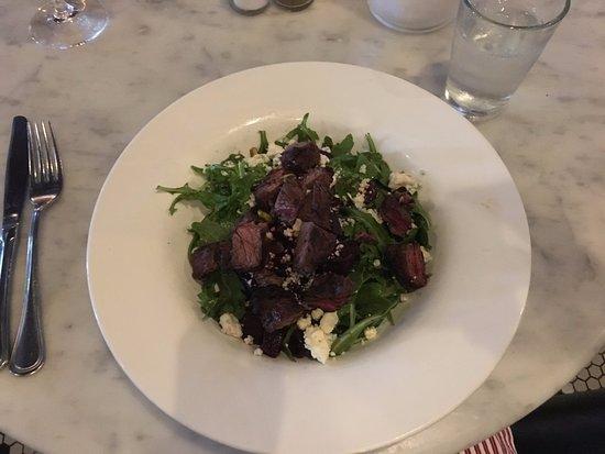 Iowa City, IA : Steak and beet salad. Yum!