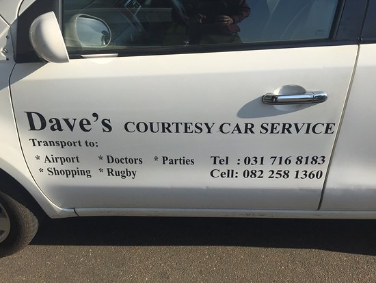Hillcrest, South Africa: Dave and his car...