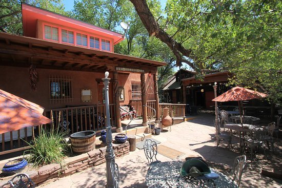 Zuni, NM: Entry porch and patio.