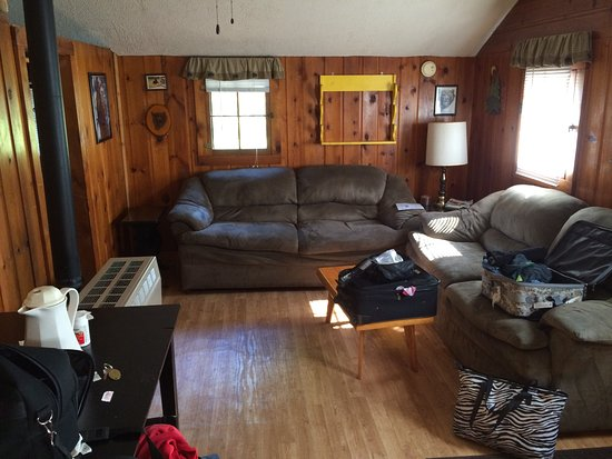 Paulding, MI: Two full couches in living room.