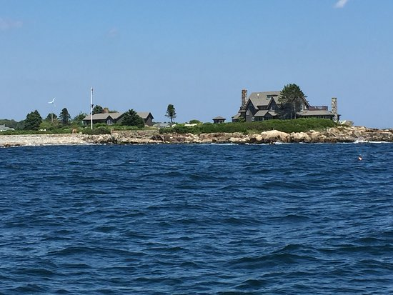 Kennebunkport, ME: It was awesome to see the Bush compound from the water!