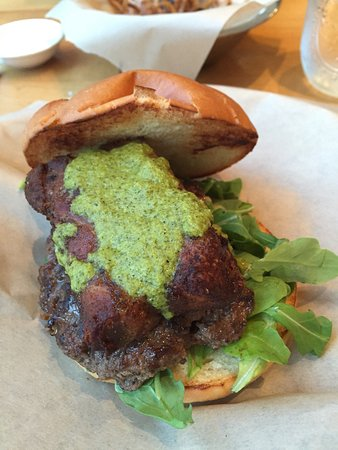 Campbell, Californië: Pork belly burger