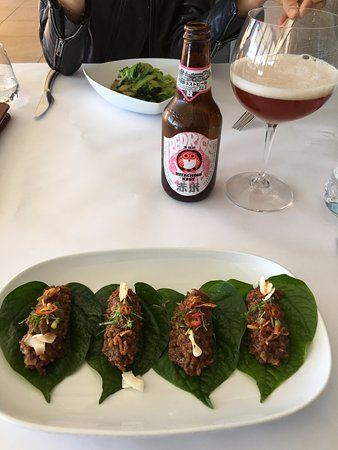 Tanunda, Australia: Barossa Hampshire pork with Red Rice Ale (starter)